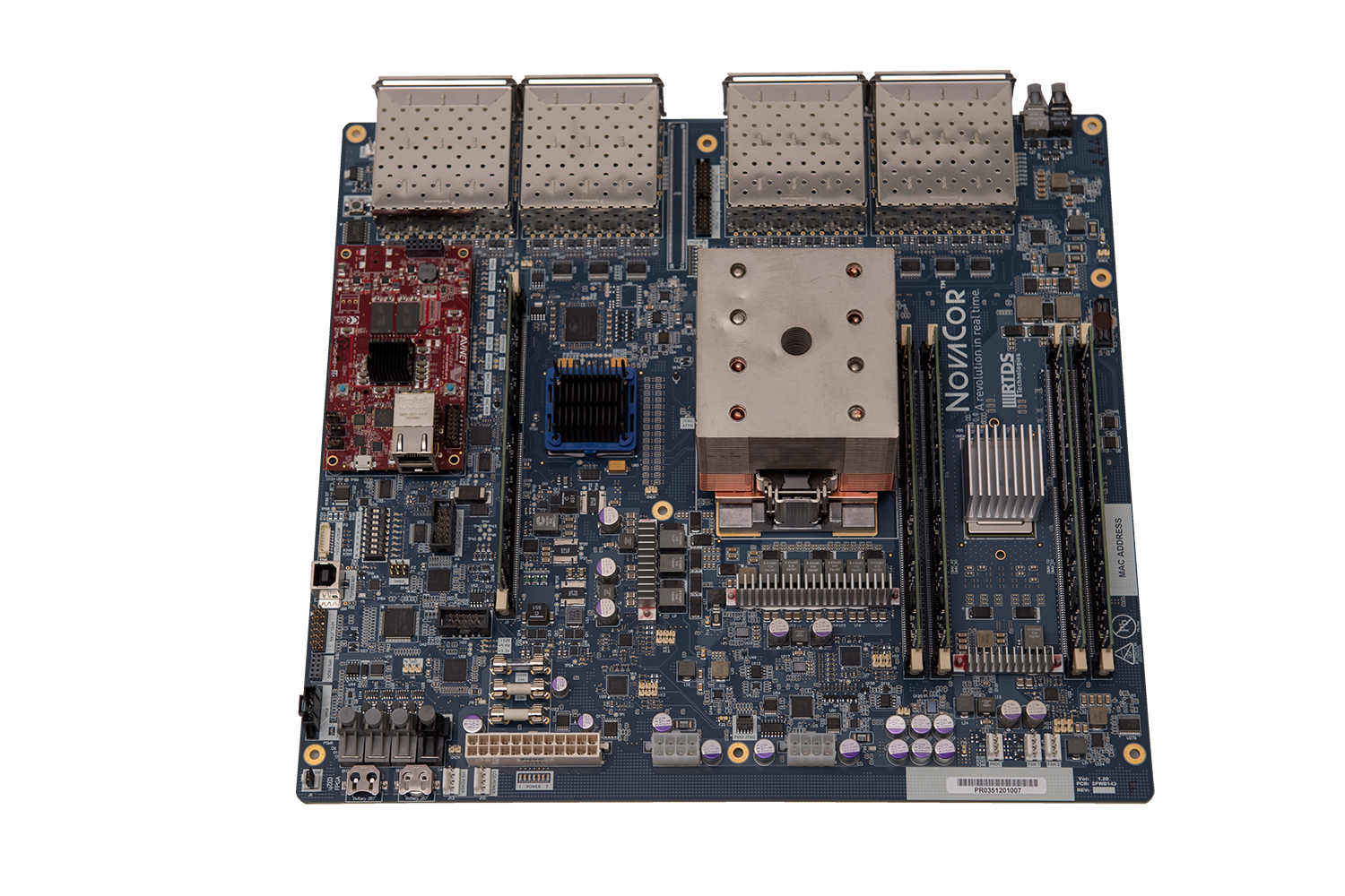 NovaCor board featuring IBM's POWER8 processor
