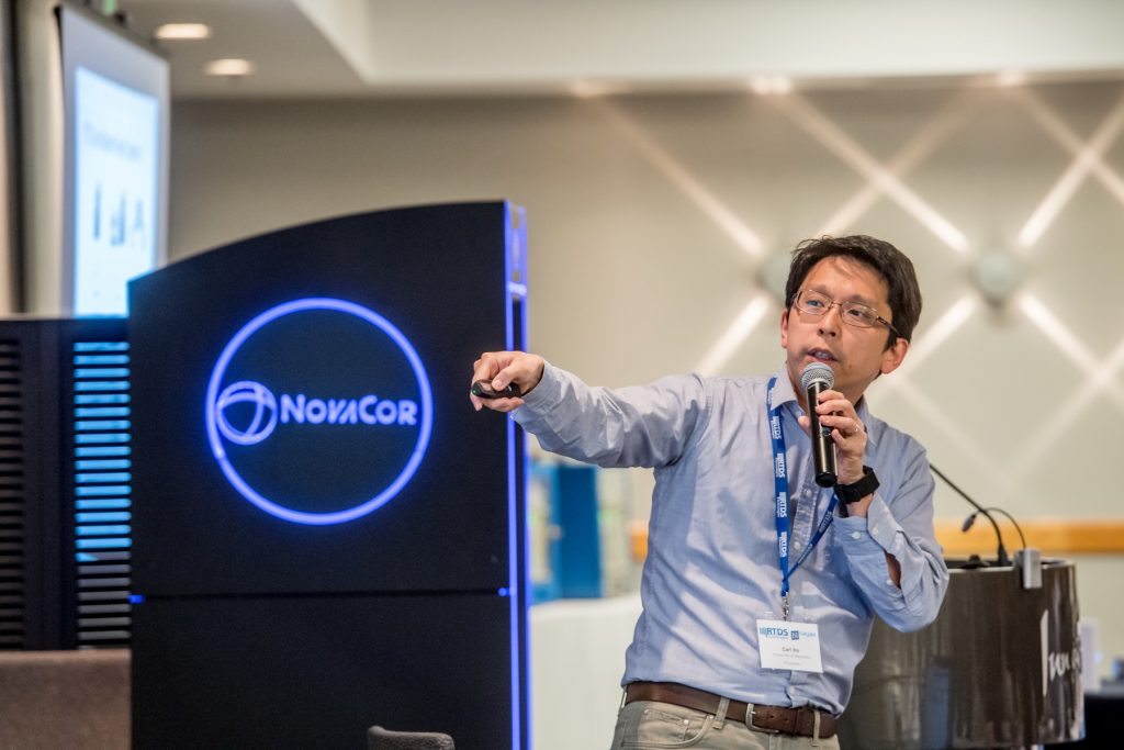 Man presents at a technology conference