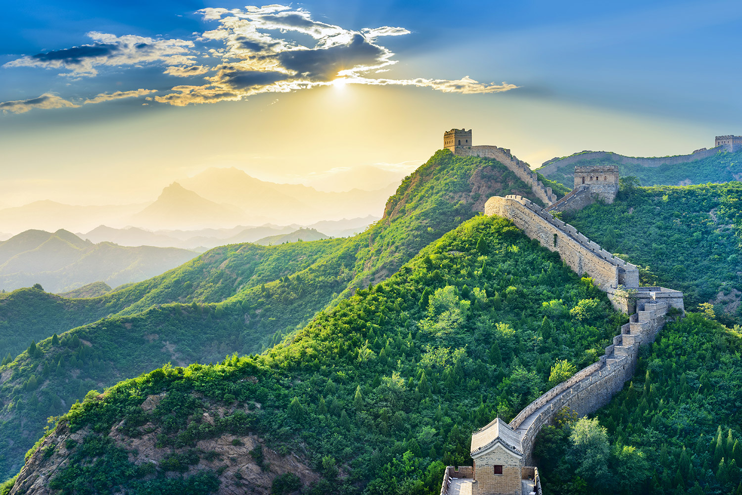 sunny great wall of china